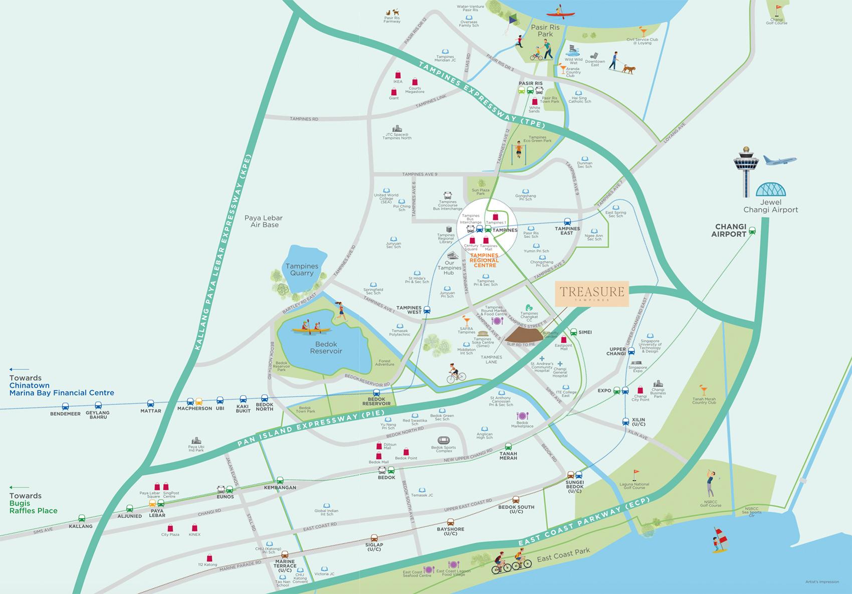 new-condo-singapore-treasure-at-tampines-location-map