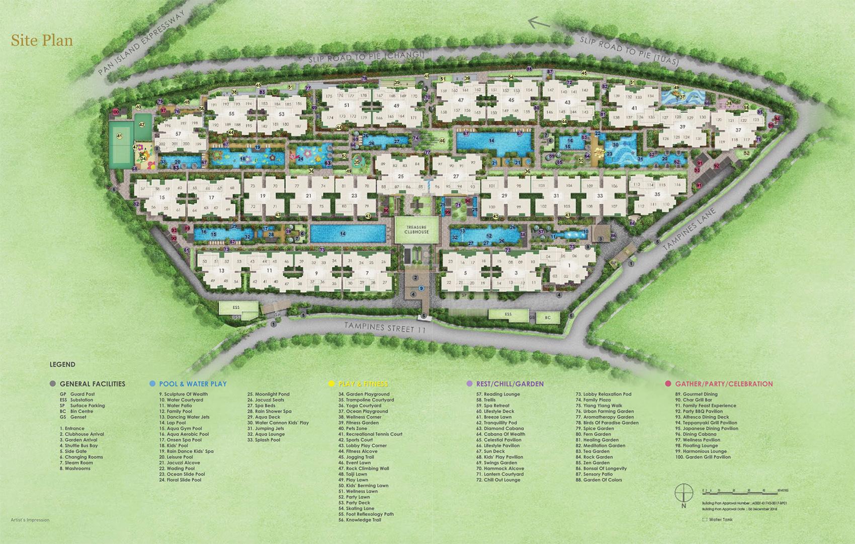 new-condo-singapore-treasure-at-tampines-site-plan
