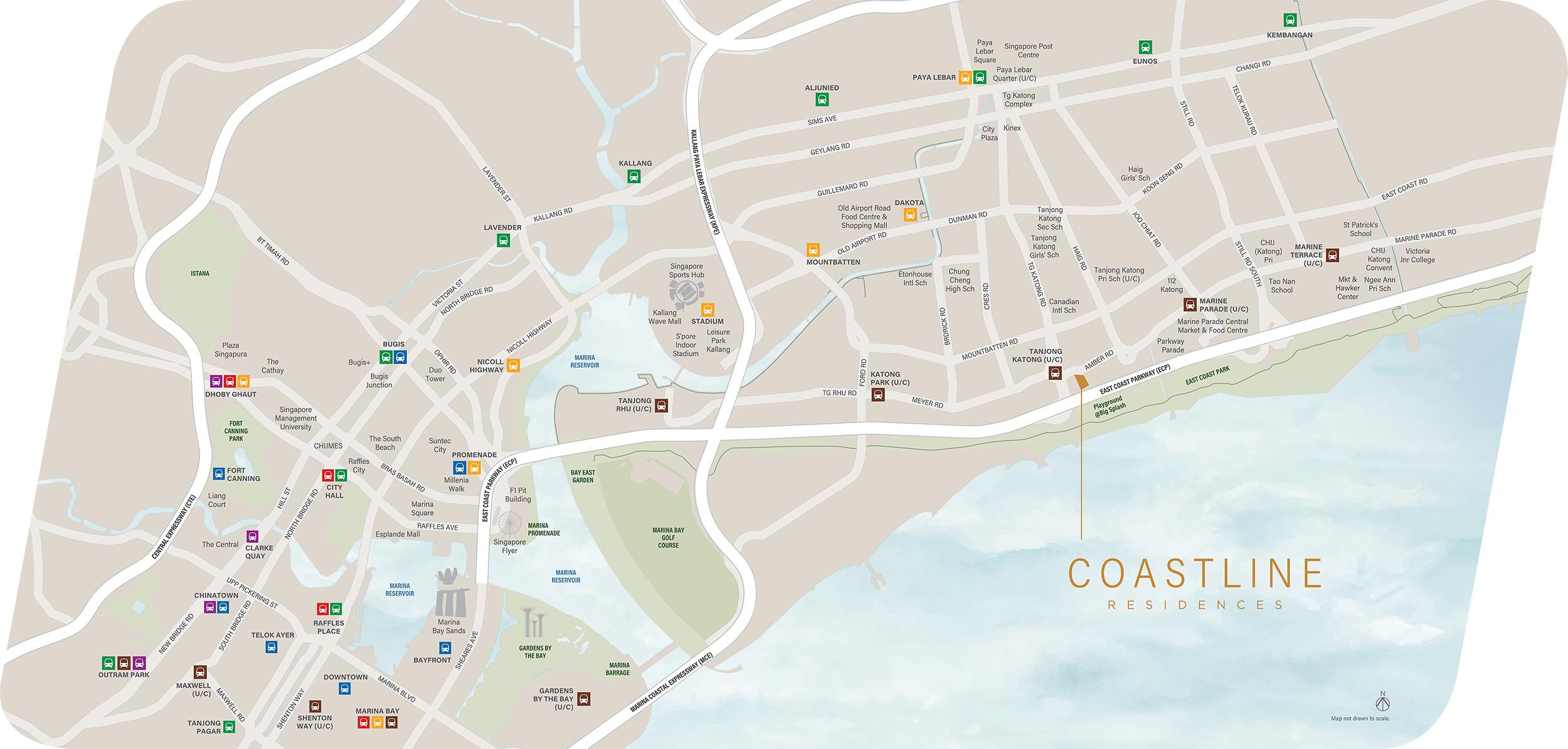 new-condo-singapore-coastline-residences-location-map