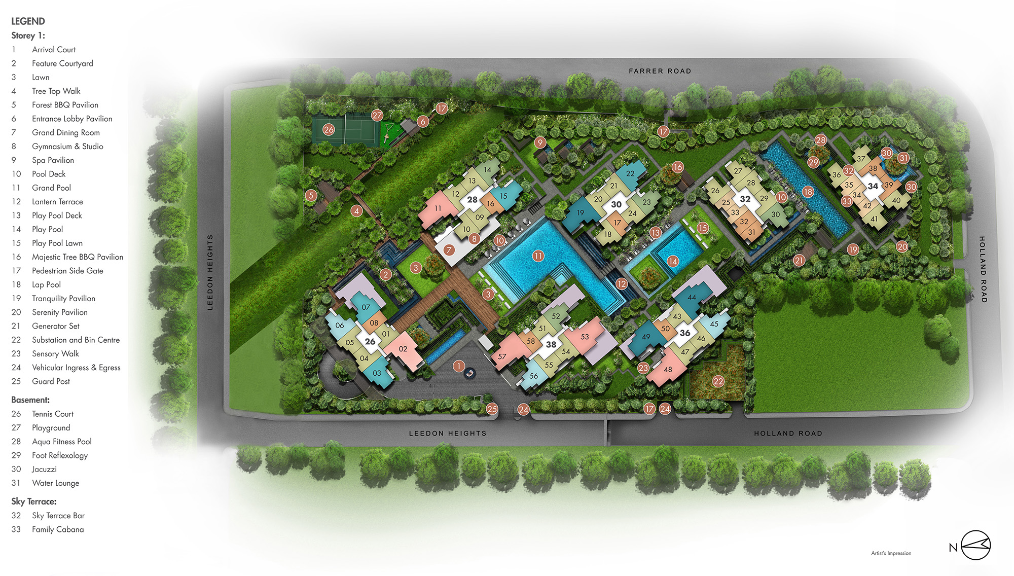 new-condo-singapore-leedon-green-site-plan