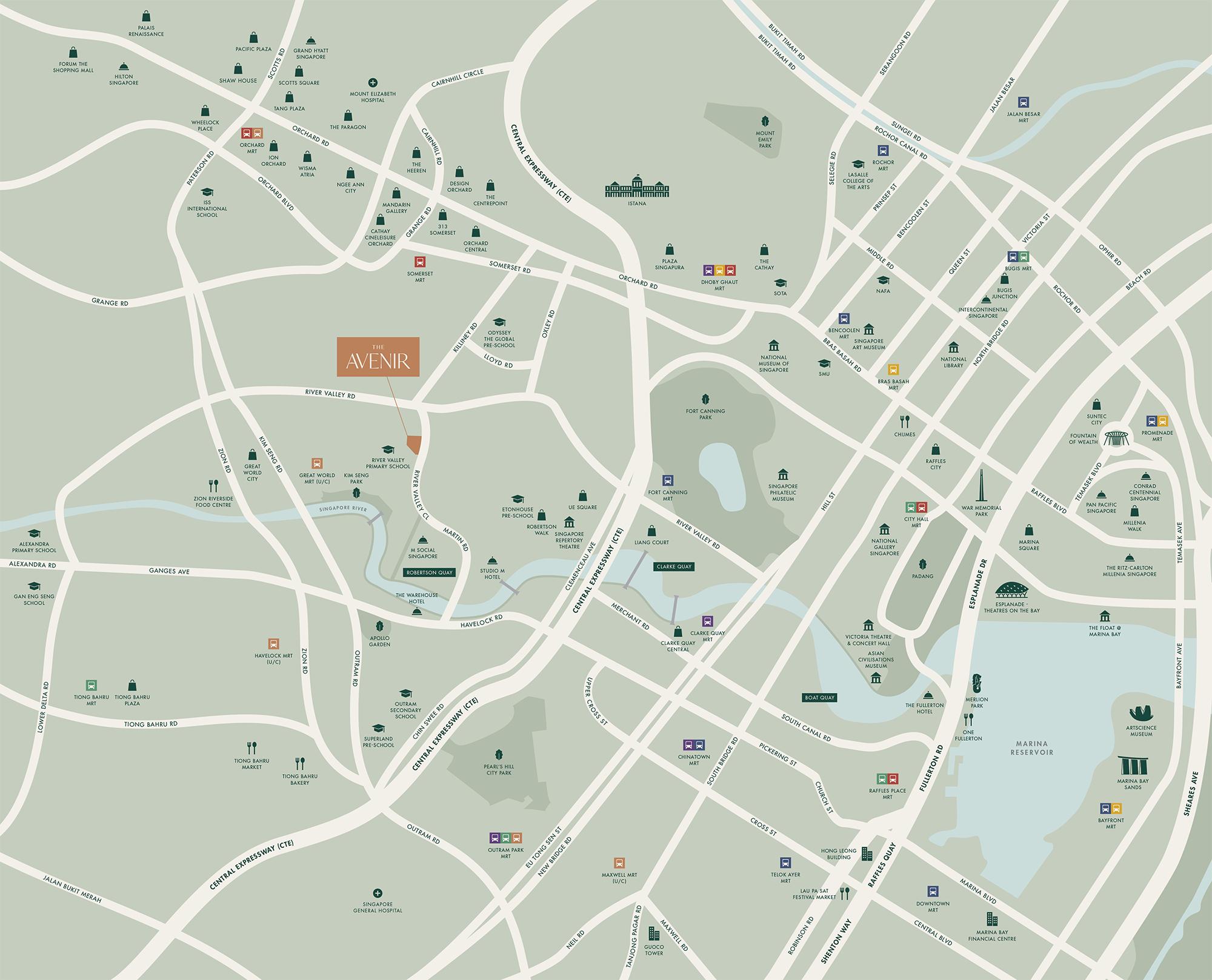 new-condo-singapore-the-avenir-location-map