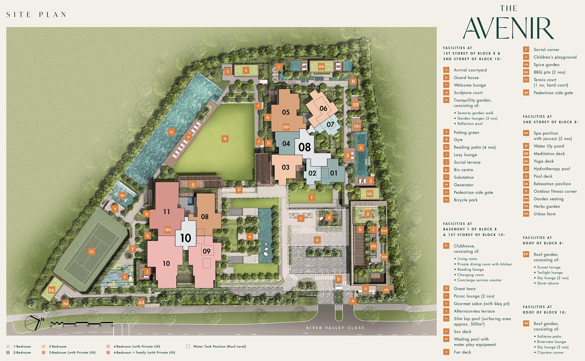 new-condo-singapore-the-avenir-site-plan