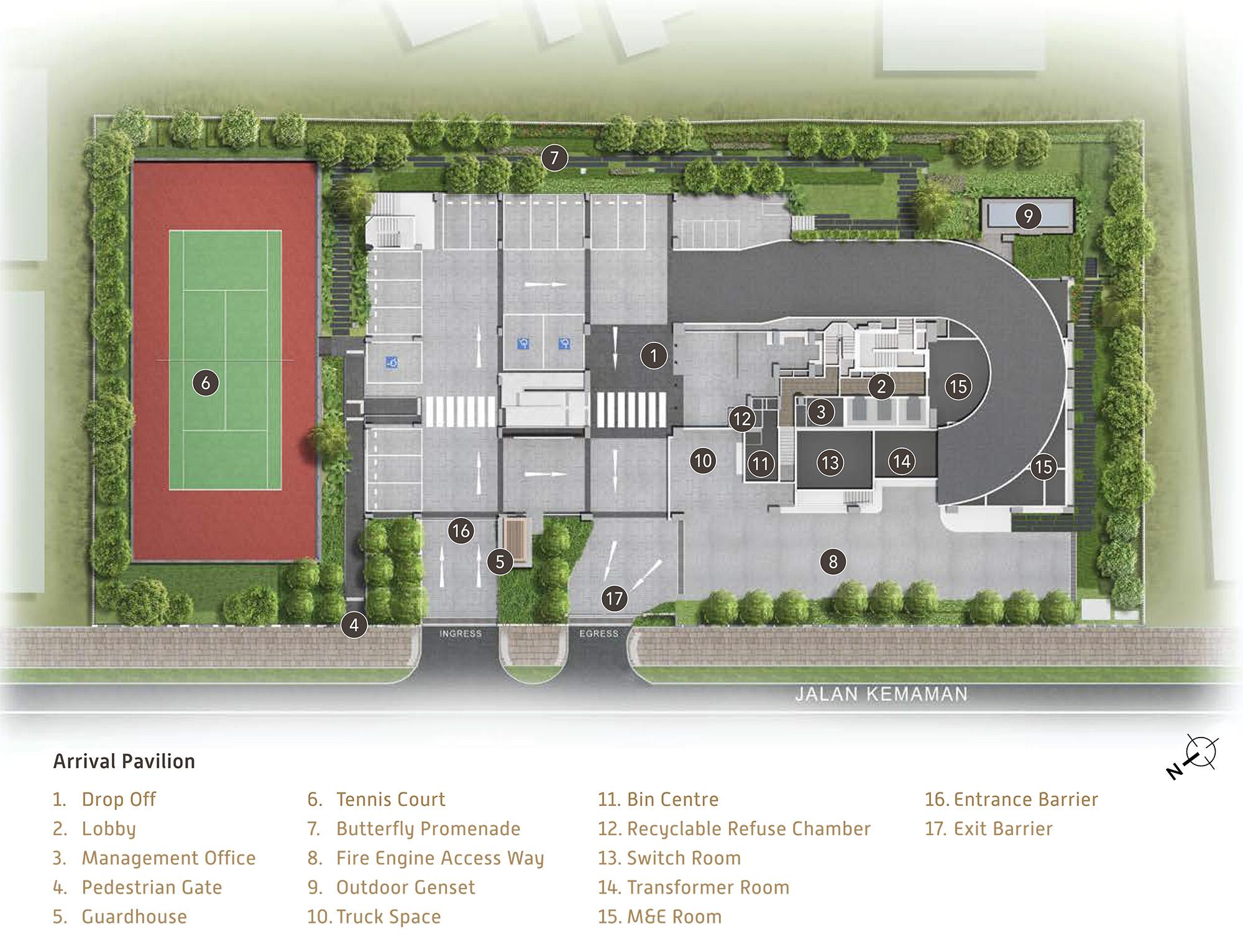new-condo-singapore-verticus-facilities-site-plan