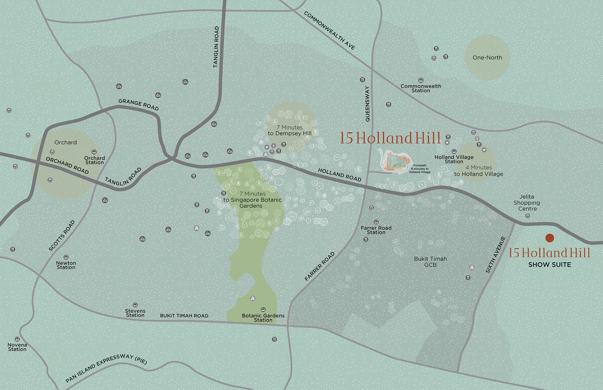 new-condo-singapore-15-holland-hill-location-map