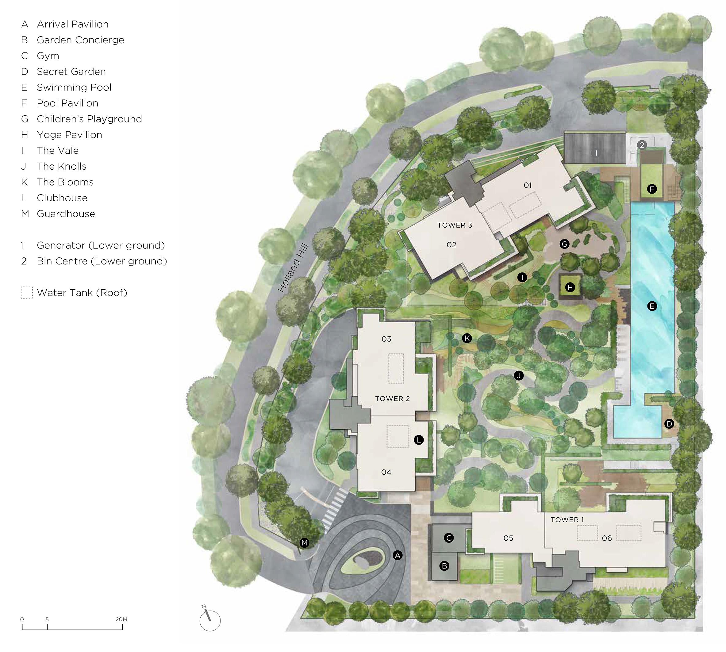 new-condo-singapore-15-holland-hill-site-plan