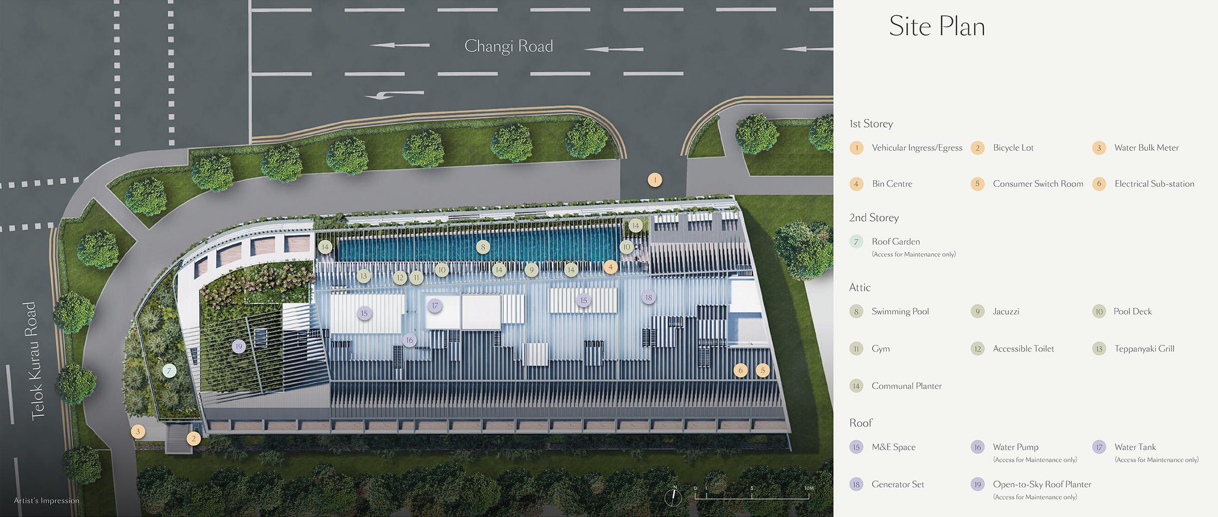 new-condo-singapore-tedge-facilities-site-plan