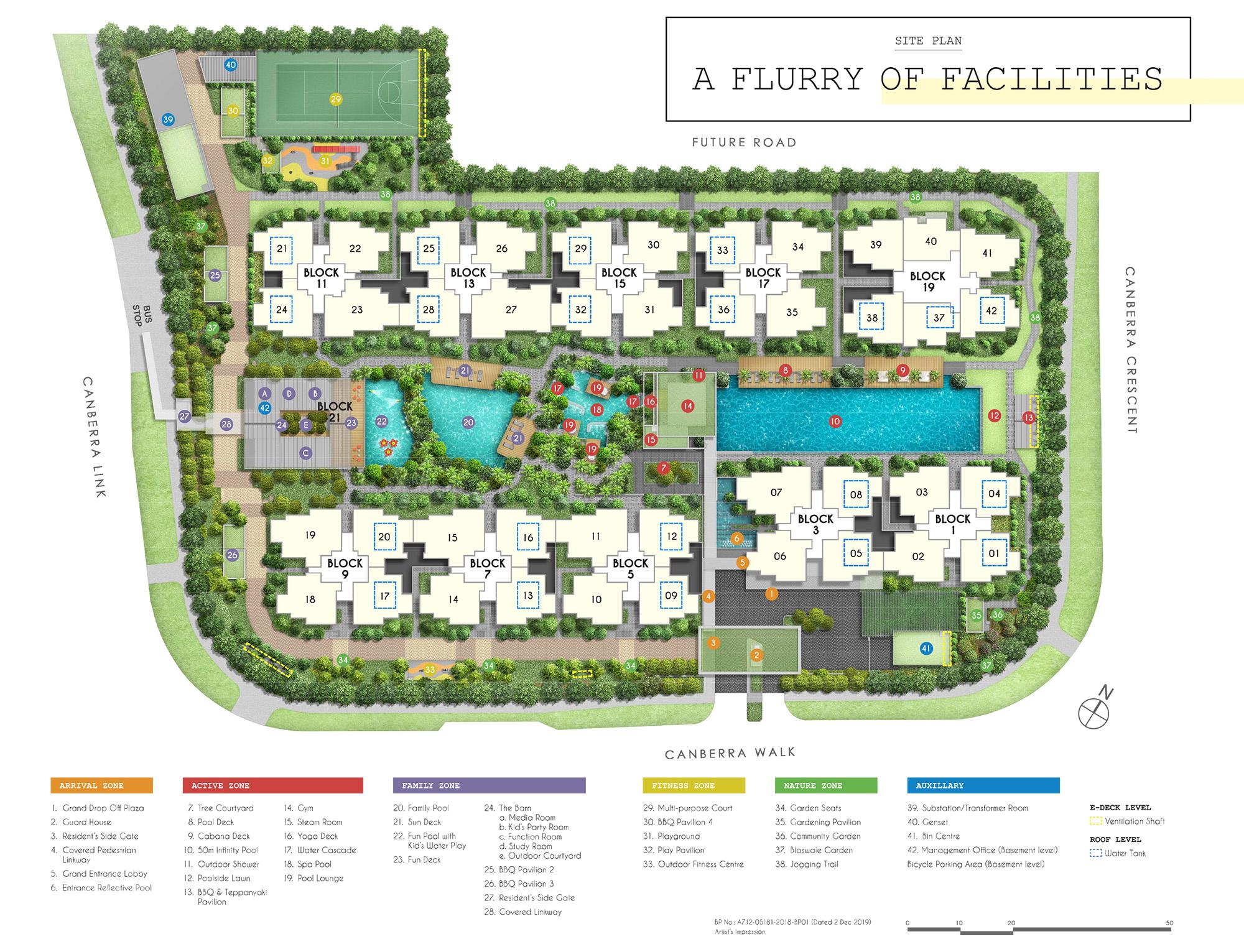 new-condo-singapore-parc-canberra-site-plan