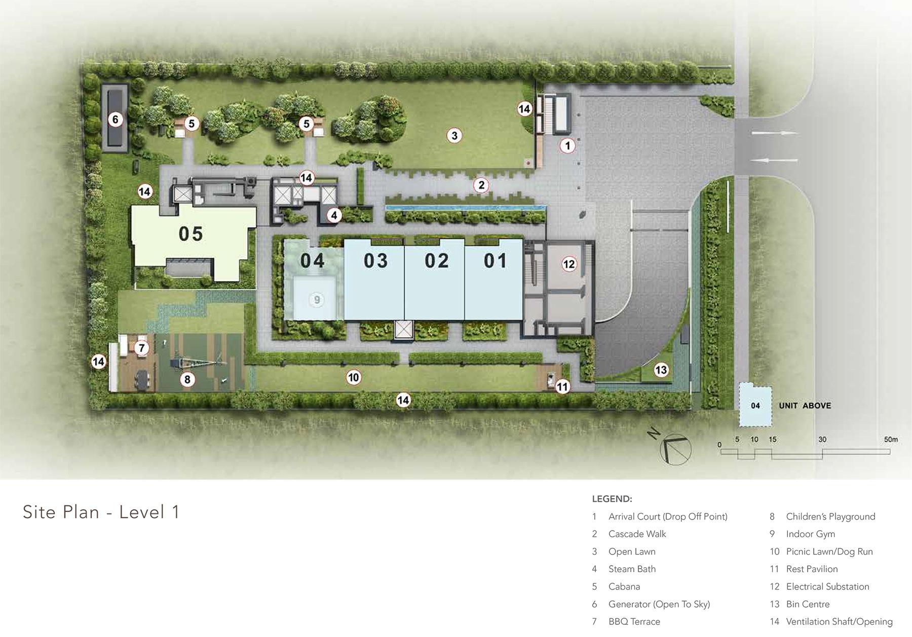 sloane-residences-level-1-site-plan-new-condo-singapore