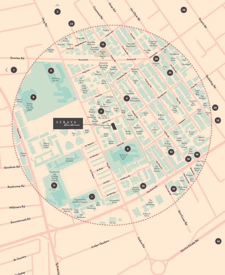 Seraya-Residencesnew-condo-singapore-location-map