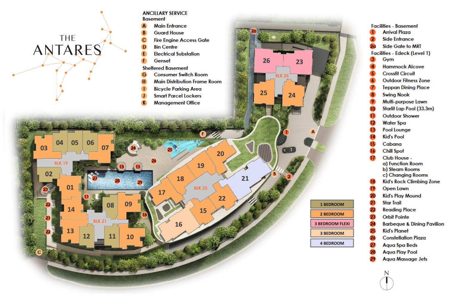 The-Antares-new-condo-singapore-site-plan