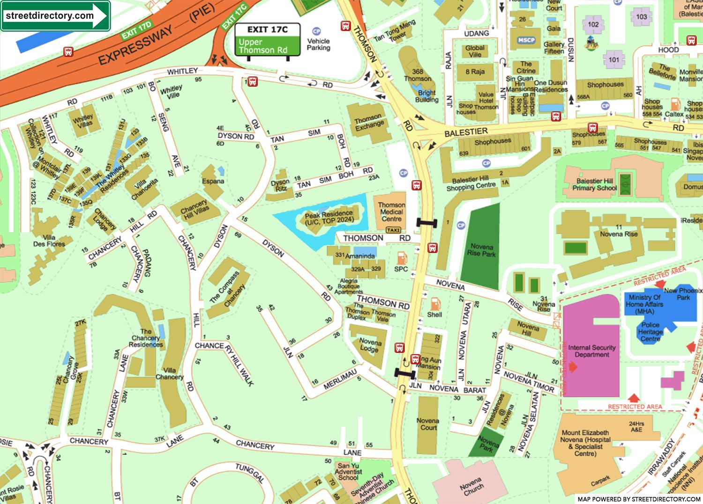 peak-residence-new-condo-location-map