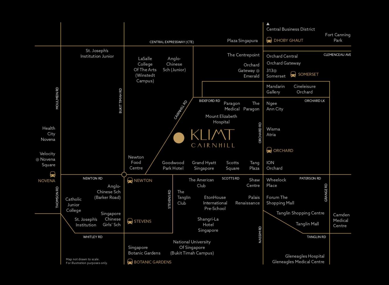 new-condo-singapore-klimt-cairnhill-location-map